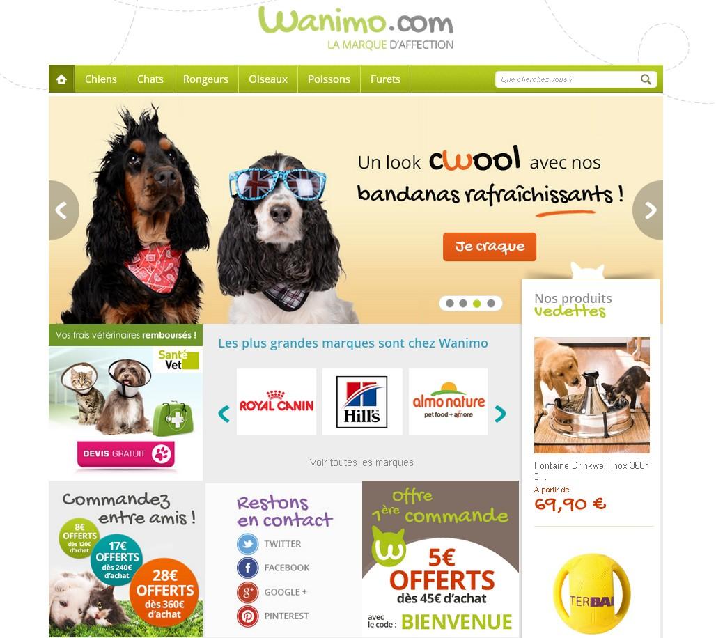 Promo wanimo, les produits d'animalerie moins chers